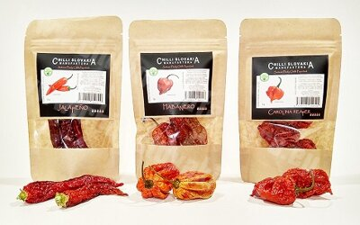 Whole dried chili peppers 3-pack